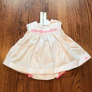 PETIT BATEAU*Pink Dress w/Diaper Cover**1 Mo.*$139